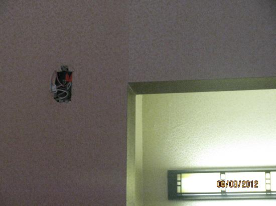 GuestHouse Inn & Conference Center: No smoke alarm!