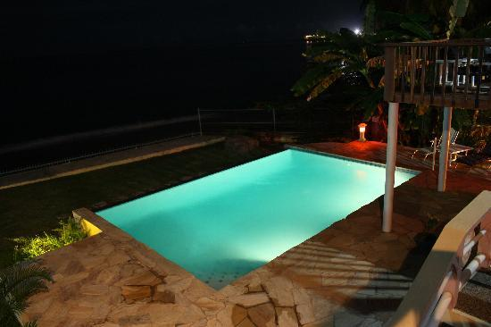 Birdie's Nest: Pool Night by the Sea