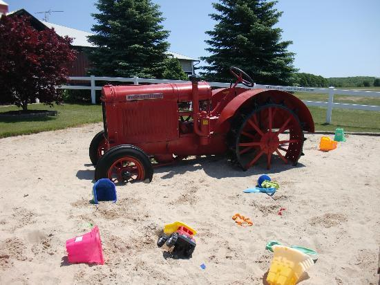 Dairy View: Tractor in the sandbox!