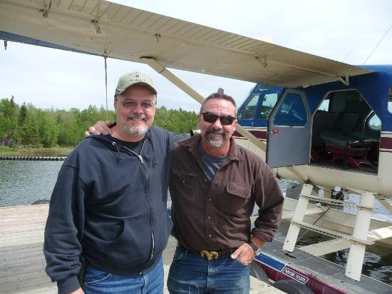 Nikiski, AK: Bernie our Amazing pilot on right