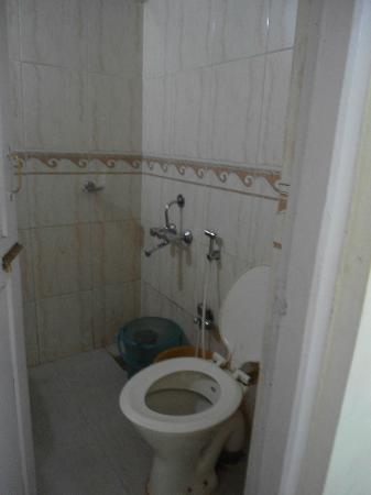 Hotel Woodlands Matheran: Small bathroom