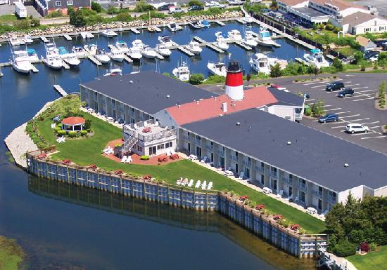 Riverview Resort on Cape Cod : Aerial view of Riverview Resort 