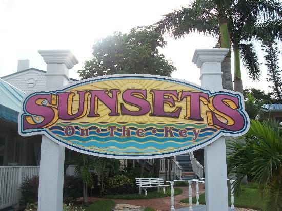 Sunsets on the Key: The sign in front entrance