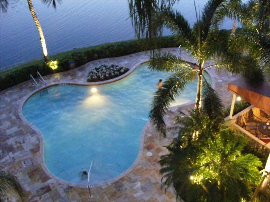 Inn at Pelican Bay: The pool, taken from room 408 in the evening.