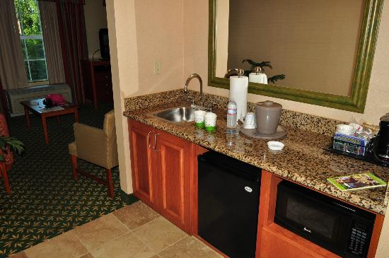 Hampton Inn & Suites Williamsburg-Central: small king suite kitchenette area