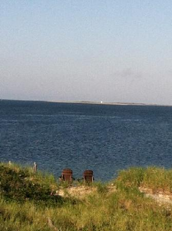 Sandbars on Cape Cod Bay: view from balcony