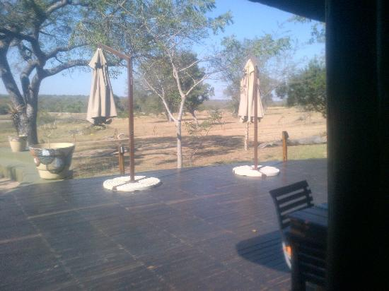 Djuma Game Reserve, แอฟริกาใต้: outside dining area and deck