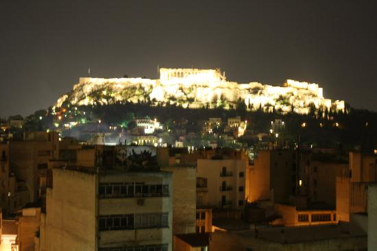 Arion Athens Hotel: rooftop terrace view