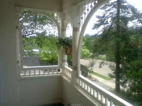 The Grand Victorian B&B: View from the Balcony Room