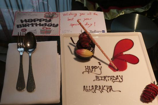 Hayes, UK: A Birthday Wish from the Very Kind Management and Staff