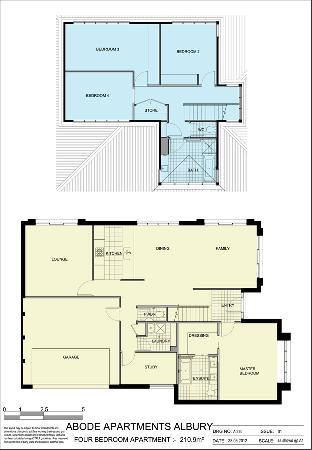 Abode Apartments Albury: 4 Bed Apartment 210.9m2
