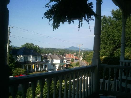 Claiborne House Bed and Breakfast: View of Rocky Mount from porch
