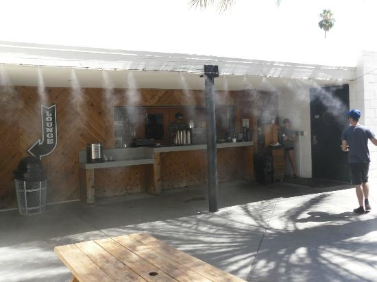 Outdoor bar with misters picture of ace hotel and swim club palm