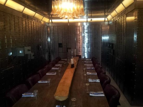 The vault private dining room picture of jamie oliver 39 s for Best private dining rooms manchester