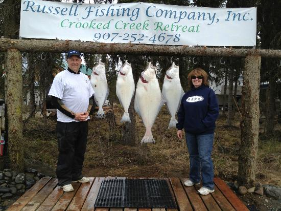 ‪‪Crooked Creek Retreat‬: Halibut Fishing