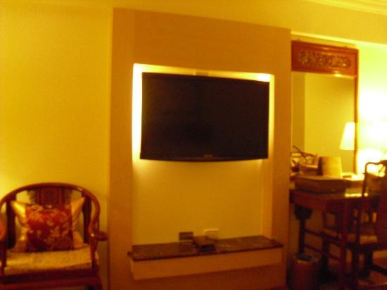 Hotel Sunshine: Mounted TV