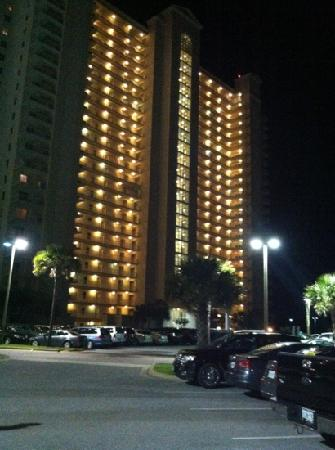 Ariel Dunes at Seascape Resort: night view of condo
