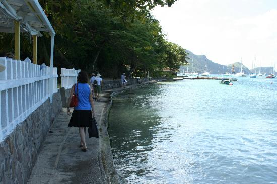 The Village Apartments: It's a 5-6 min walk along the water into town.