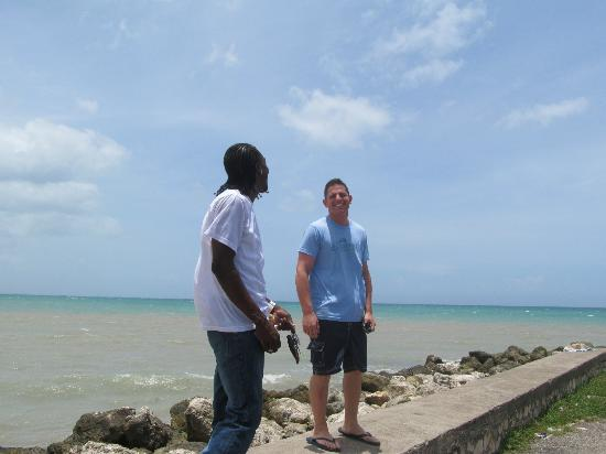 Talk of the Town Tours: Nick and Omar at a local beach
