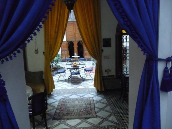 Riad Laayoun: view from dining area