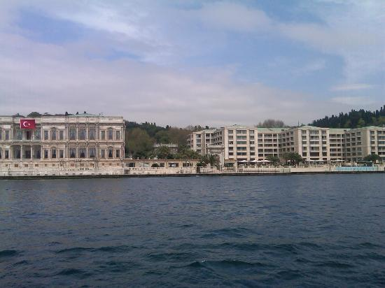 Ciragan Palace Kempinski Istanbul: View of Kempinski from Bosphorus