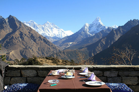amadablam view from hotel picture of hotel everest view