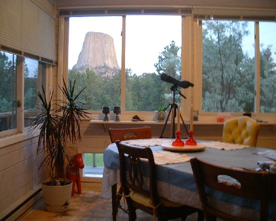 Devils Tower Lodge Dining Room with a View !!!