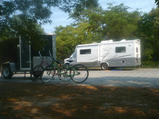 Cape Henlopen State Park Campground: spacious parking