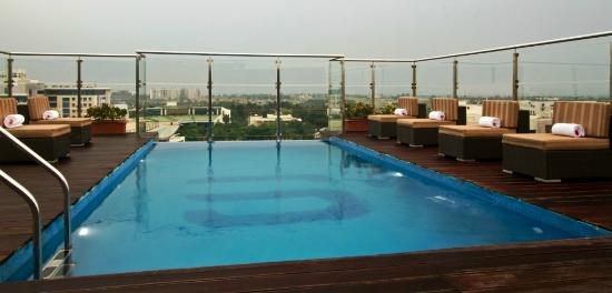 Rooftop Infinity Swimming Pool Picture Of Svenska Design Hotel Bengaluru Bangalore