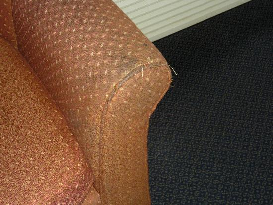 Days Inn Lombard Street: dirty arm chair with bugs crawling