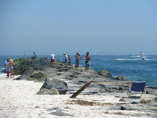 Fishing the rocks jetty at barnegat inlet island beach for Barnegat inlet fishing report