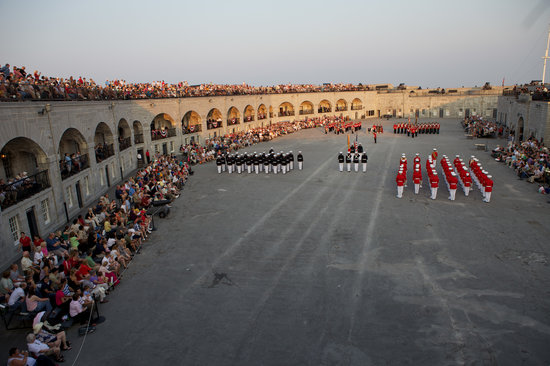 Kingston, Canada: Sunset Ceremony At Fort Henry
