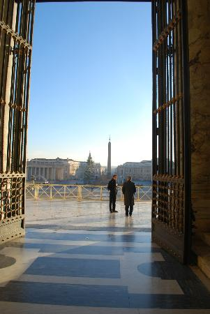 Vatican: Looking out from St. Peters.
