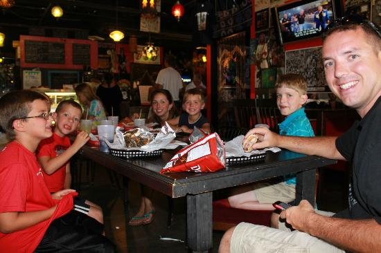 Fattys Sandwich Shop: Our family eating at Fattys. Anyone who thinks there isn&#39;t food for kids...ours had no problems