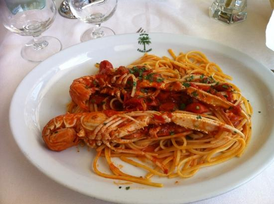 Province of Latina, Italy: linguine all&#39;astice
