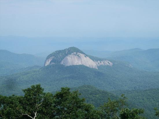 Pisgah Forest, NC: Looking Glass Rock from the Blue Ridge Pkwy