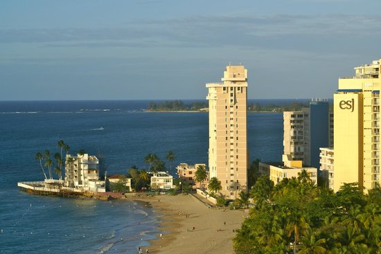 Isla Verde beach with El San Juan hotel