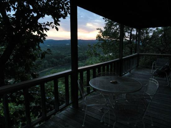 Arkansas White River Cabins: Sunset from Arrowhead
