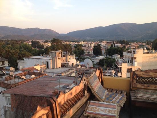 Homeros Pension & Guesthouse: roof terrace at Homeros