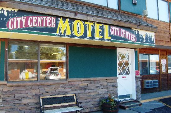 West Yellowstone's City Center Motel: front of hotel