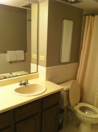 The Burnsley All Suite Hotel: Dated bathroom