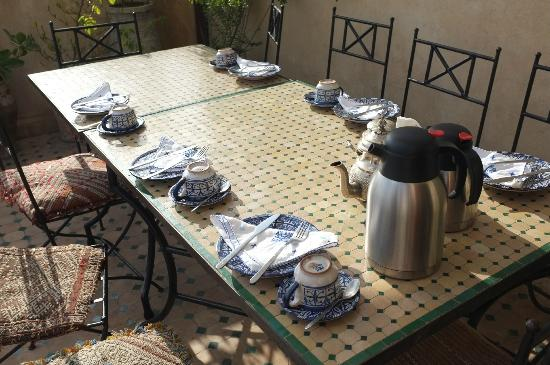 Dar El Menia: Breakfast area