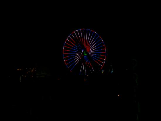 Isle of Palms Motel: View at night from balcony of ferris wheel