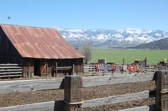 Caliente, : View of the horses corral.