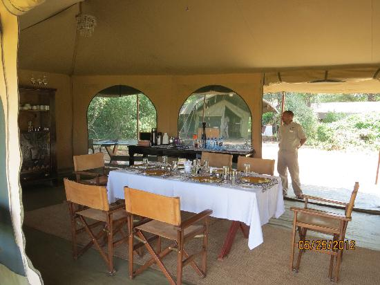 Lemala Manyara: Dining tent