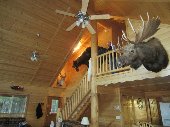 Alaska's Last Frontier Fishing Lodge: interior stairs. Fabulous decor