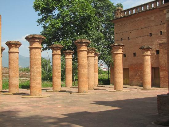 Imphal, India: ruins of old temple complex