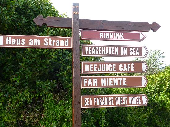 Haus am Strand: great cafe just down the road- Beejuice!