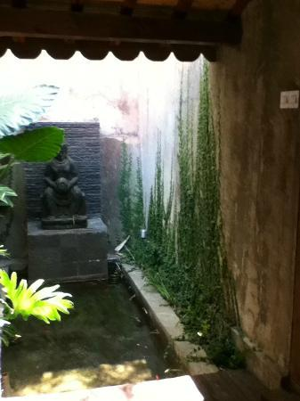 Jadul Village Villa & Spa: A nice small fish pond in the open bathroom area
