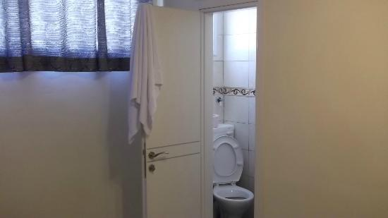 Hotel Ness Ziona: Toilet/Basin/Shower